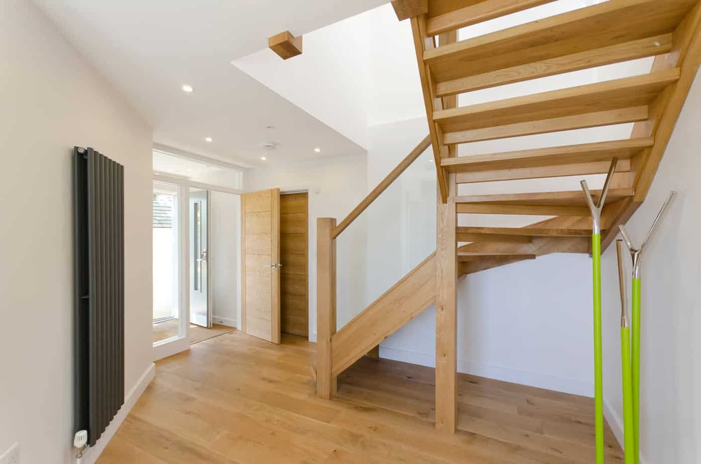 Modern timber staircase