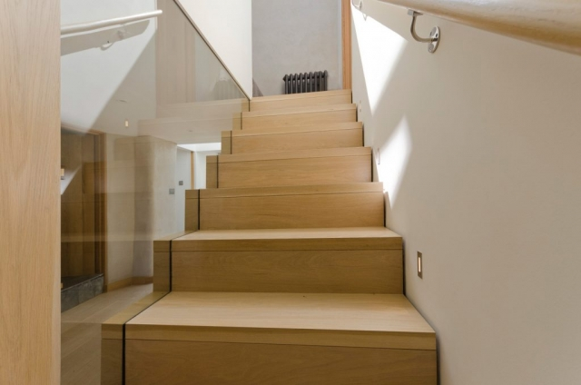 Timber Staircase with Glass
