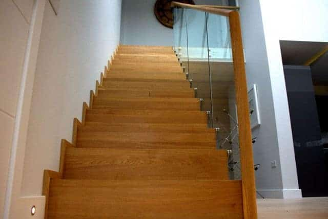 timber and glass staircase