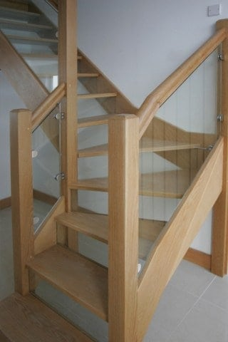 Timber Stairs with Glass Banisters