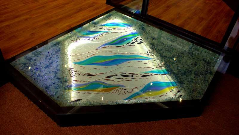 Glass Floor Art Design