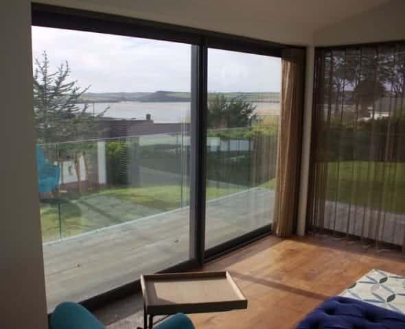 Bedroom with Glass sliding doors