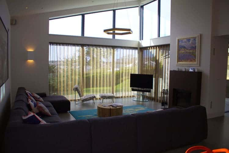 Room with glass walls