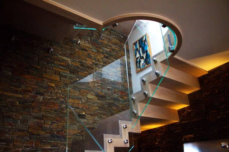 Bespoke Timber & Glass Staircase