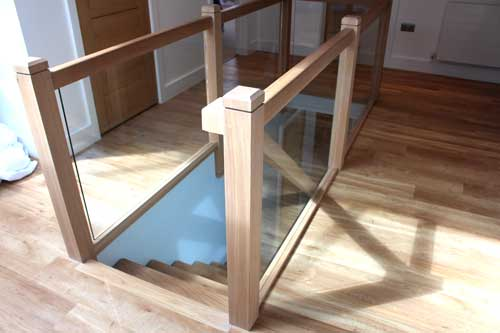 Timber staircase with timber spindles