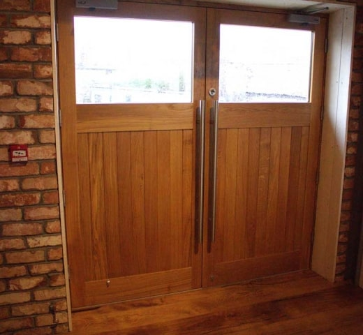 Timber commercial double doors