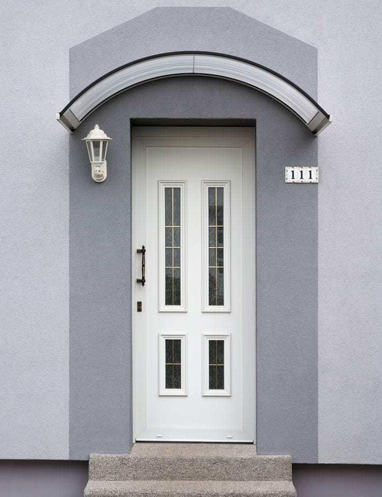 White PVCu Door