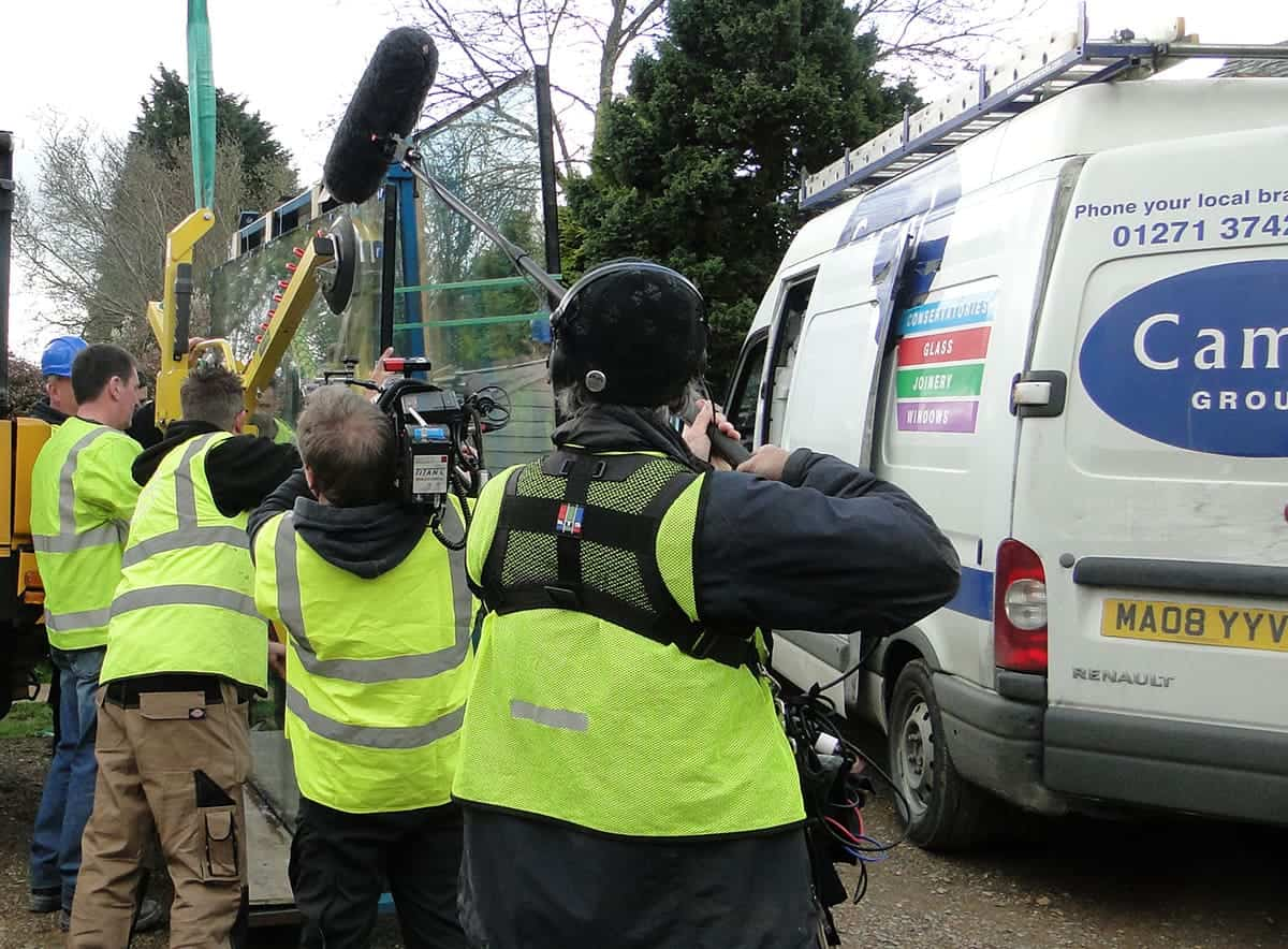 Camel Group filming Grand Designs