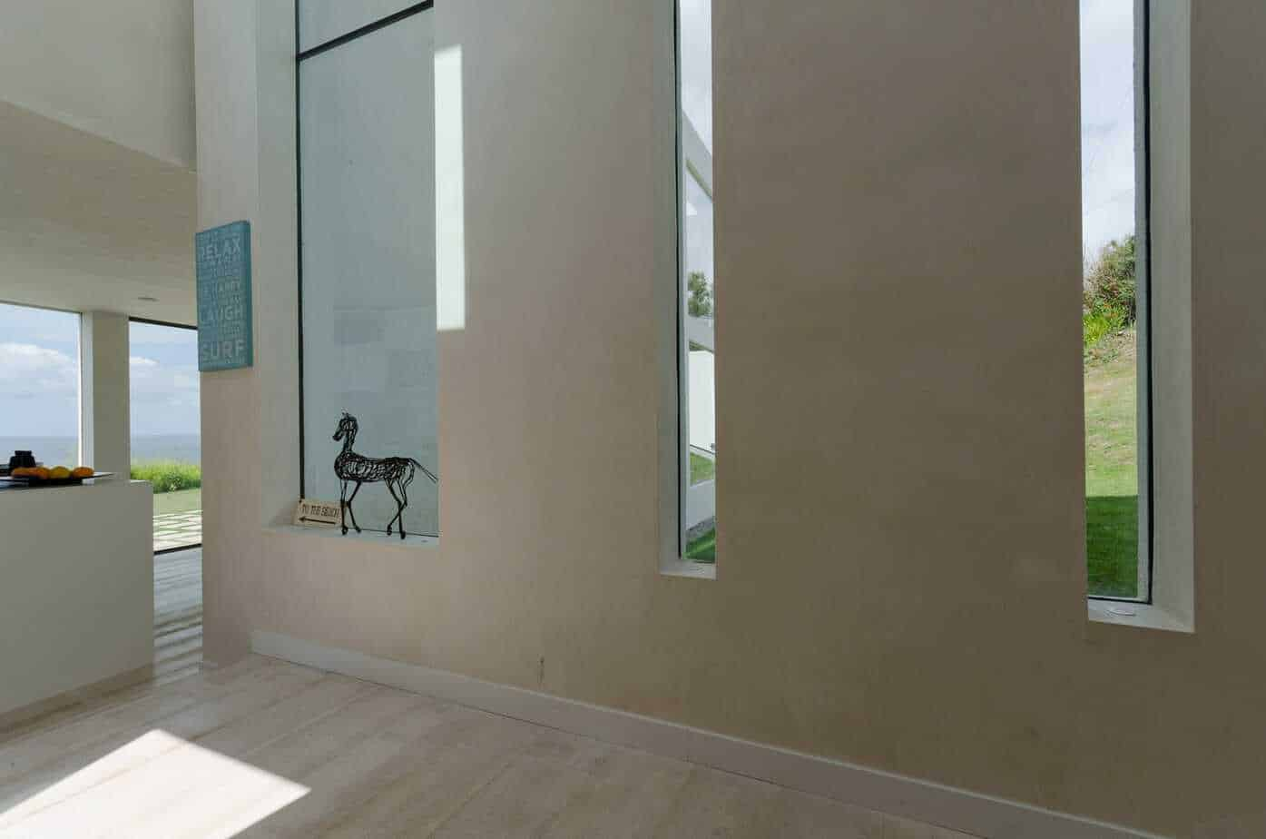 thin long frameless architectural windows
