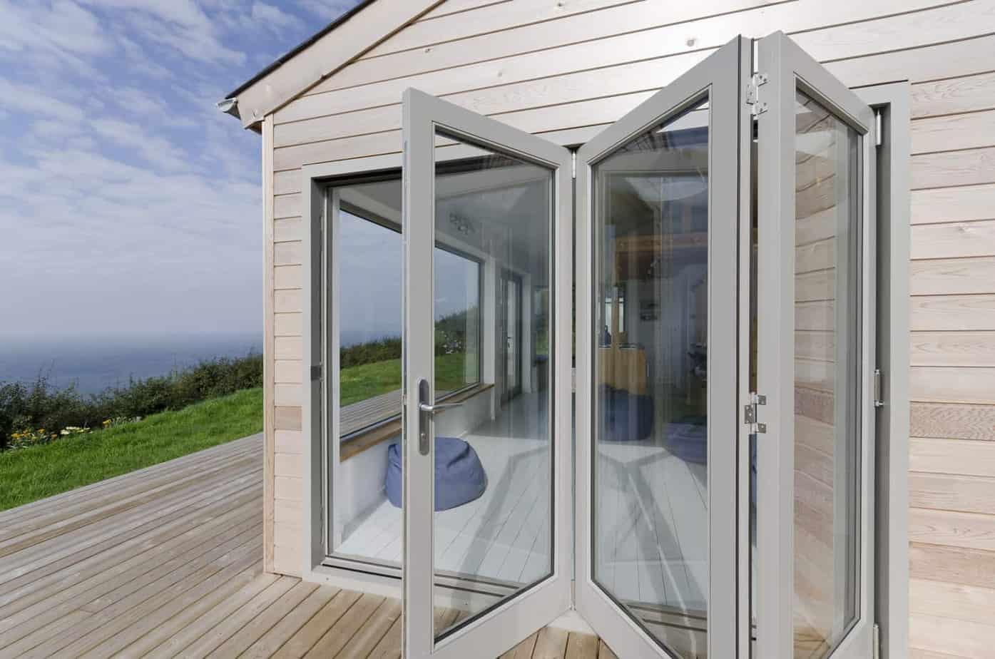 Grey Aluminium Bi Fold Doors