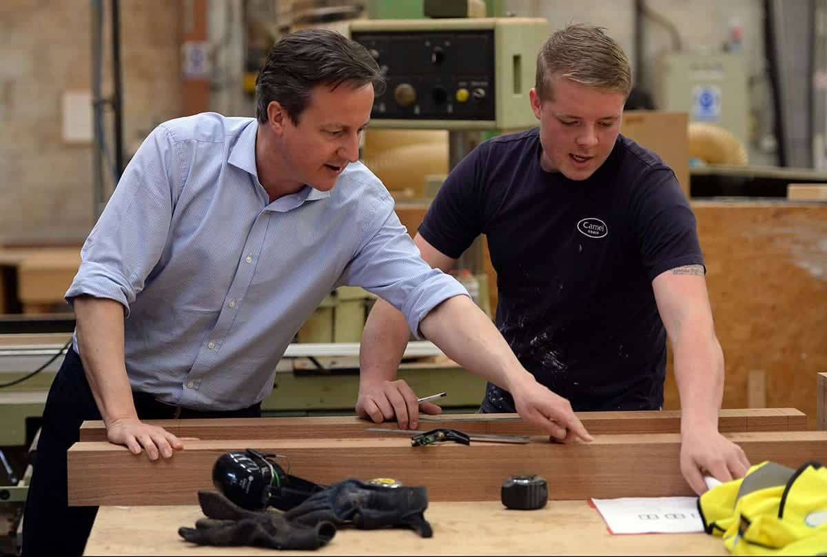 David Cameron Visits Camel Group