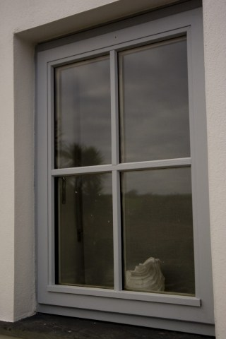 Grey Timber Window