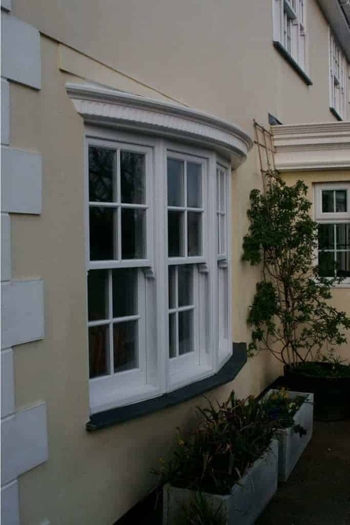 Traditional bay timber windows