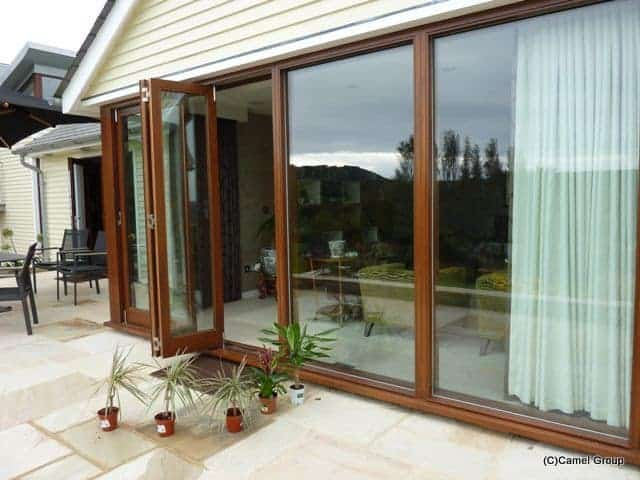 folding timber doors open