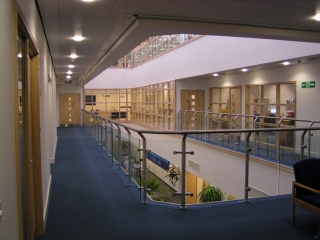 Post and Rail Balustrade in large building