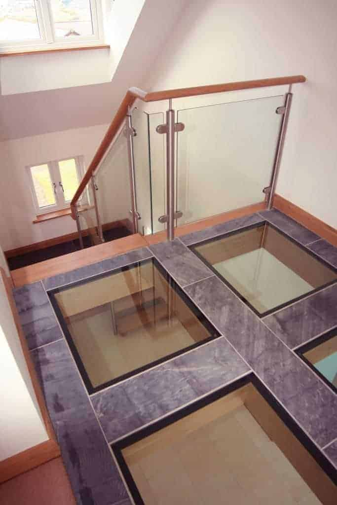Glass Floor leading to stairs