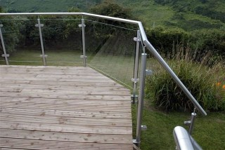 Post and Rail Balustrade on Decking