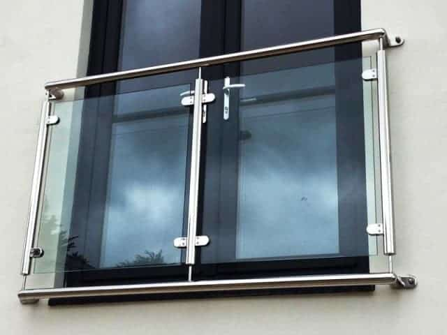 Stainless steel post fixed Juliet Balcony
