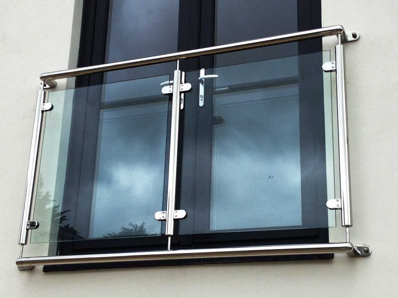 Stainless steel & Glass  Juliet Balcony