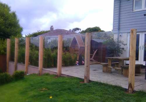 Timber Post Glass Balustrade
