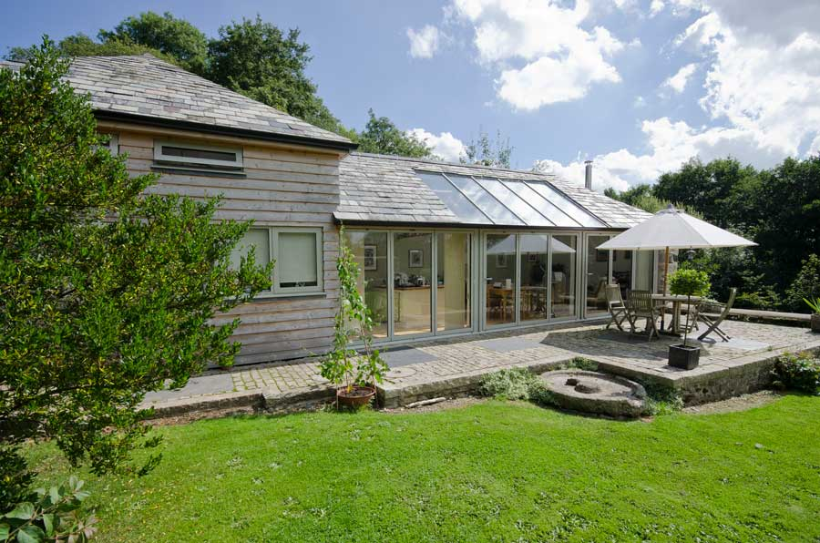 Cottage with timber bi fold doors