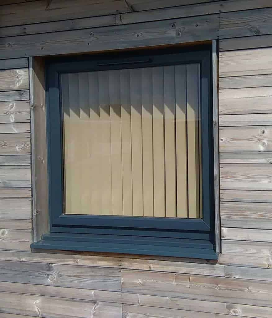 Grey PVCu Window