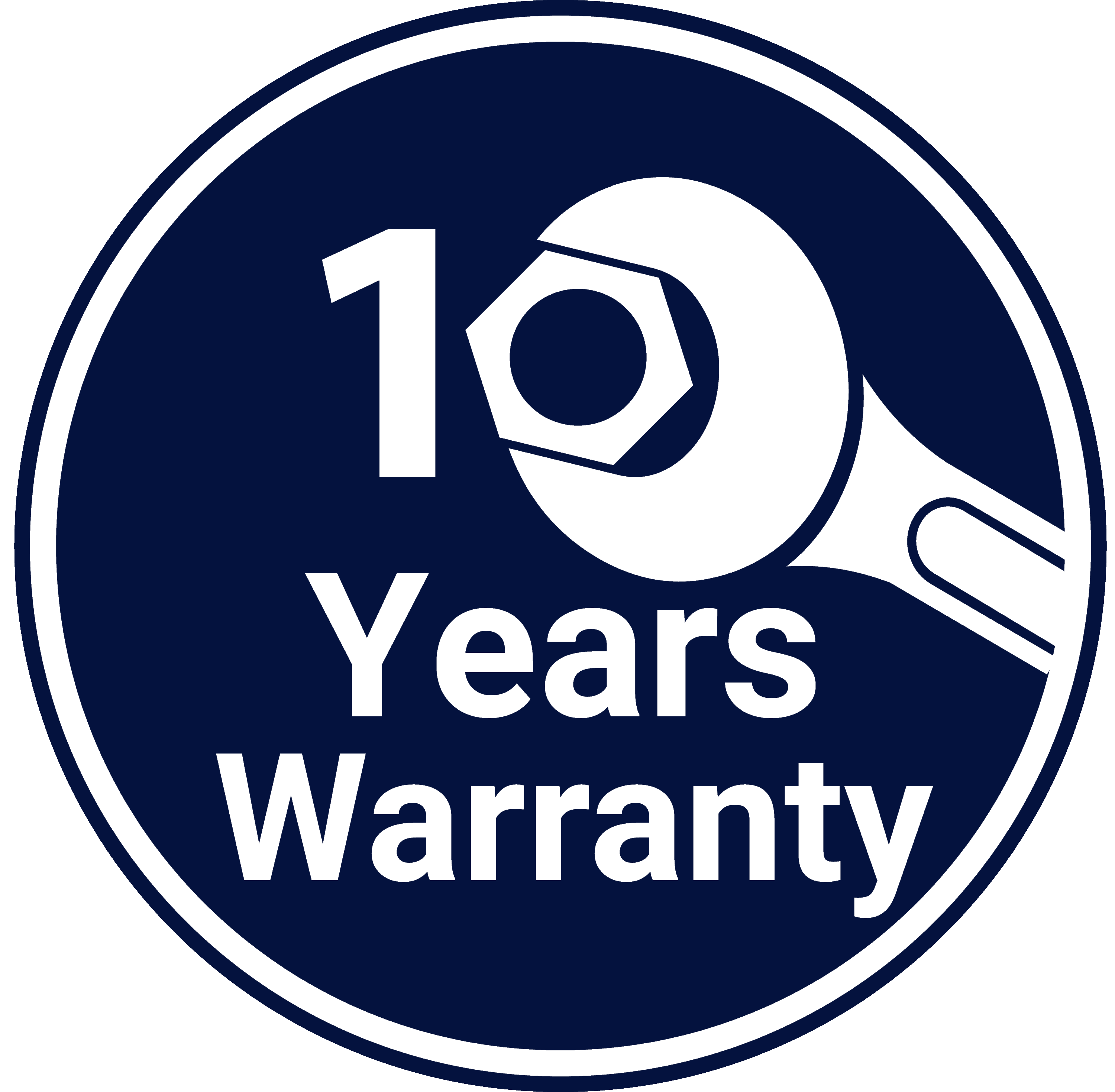10 years warranty logo