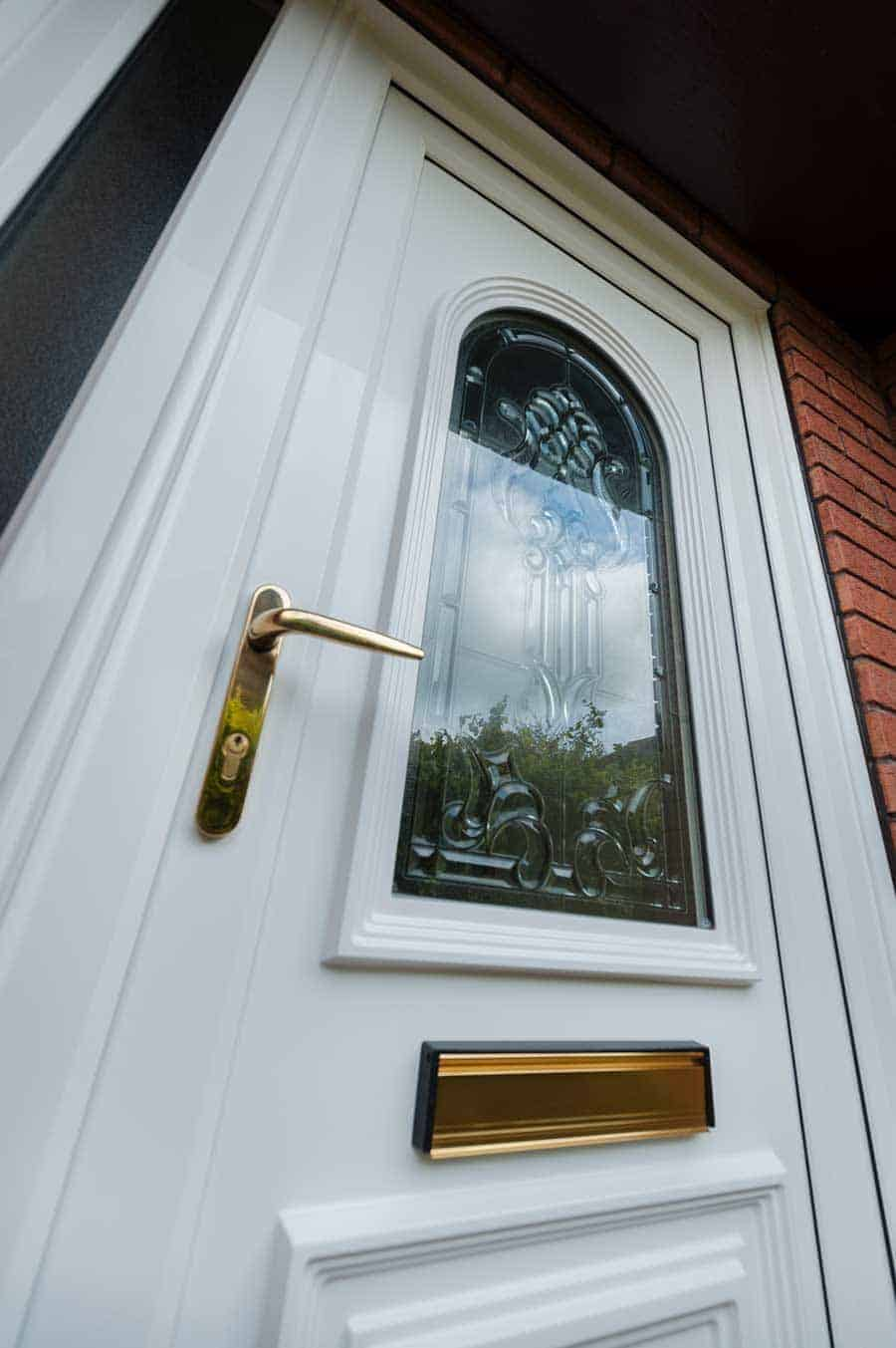 close up of white Pvcu Door