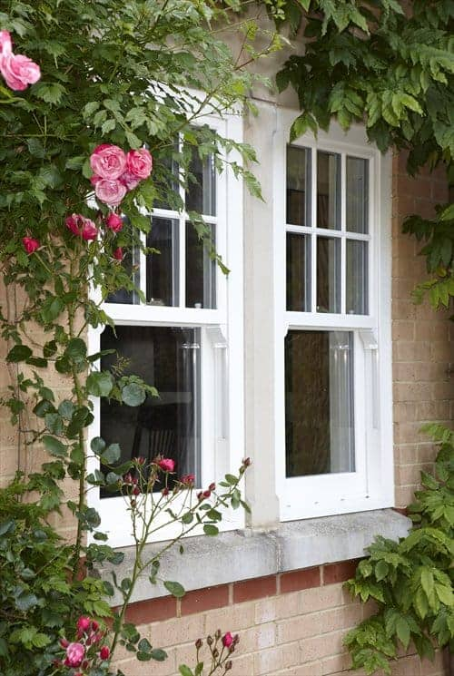 pair of sliding sash windows