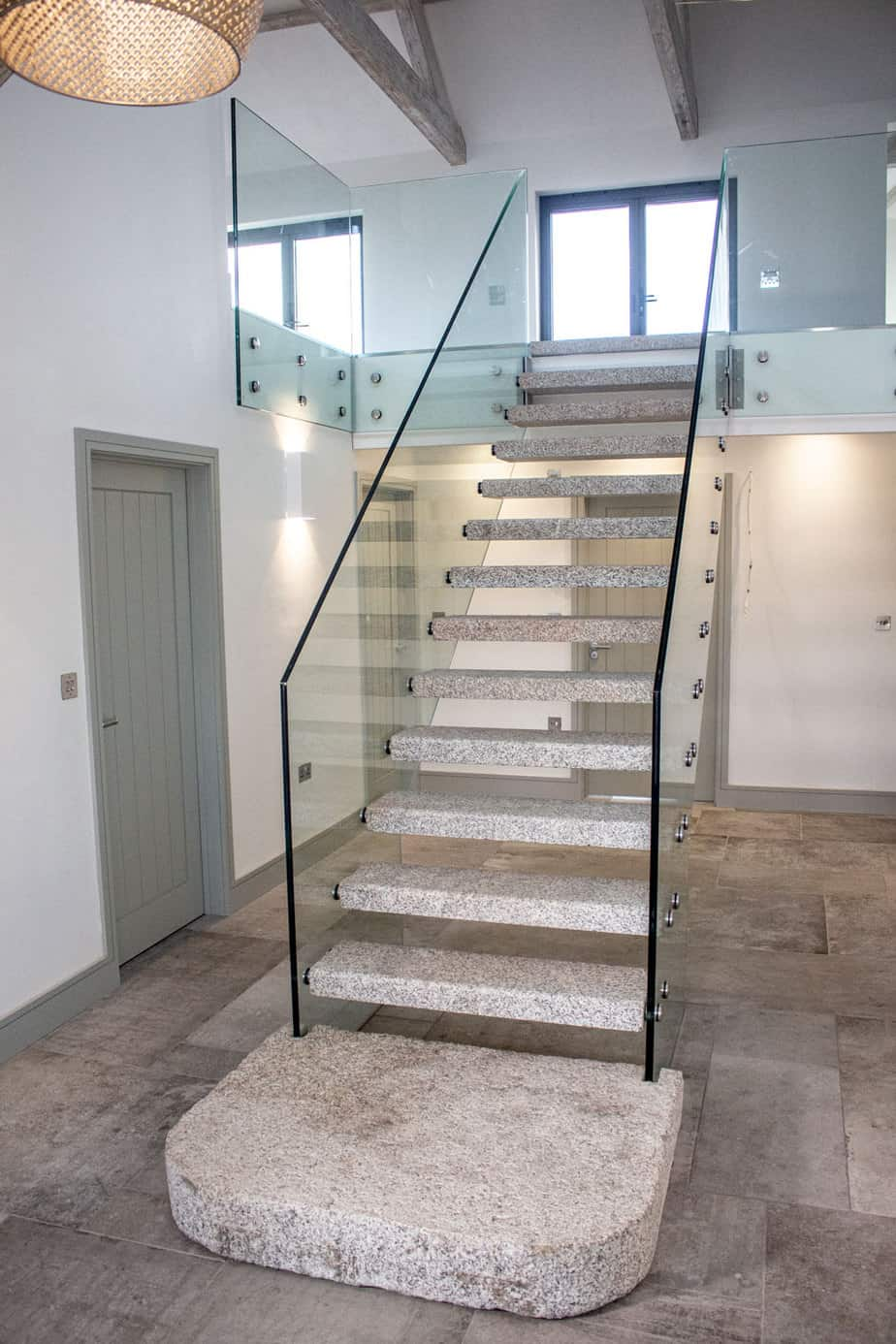 Granite & Glass Staircase