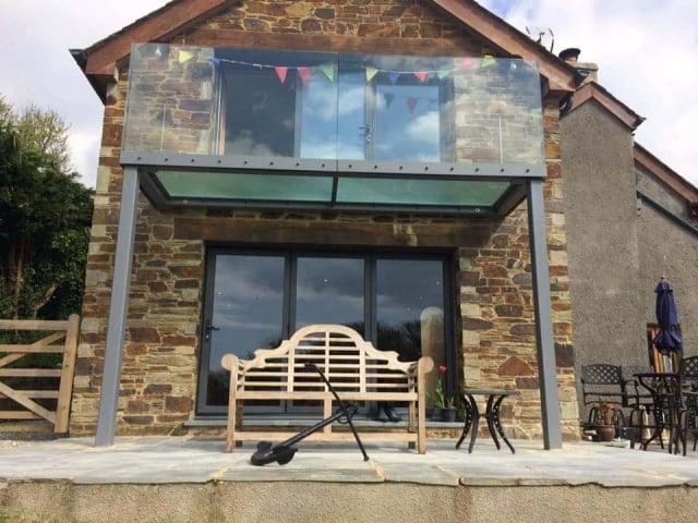 Balcony frameless Glass Balustrade