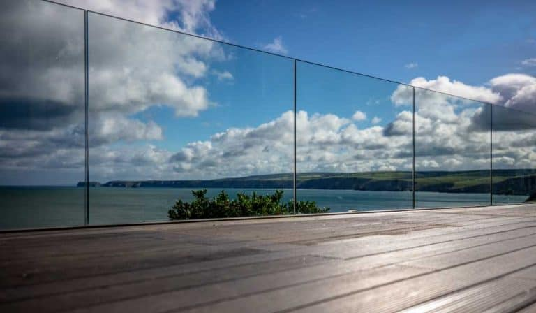 Glass Balustrade on Decking