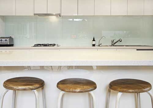 Clear Kitchen Glass Splashback