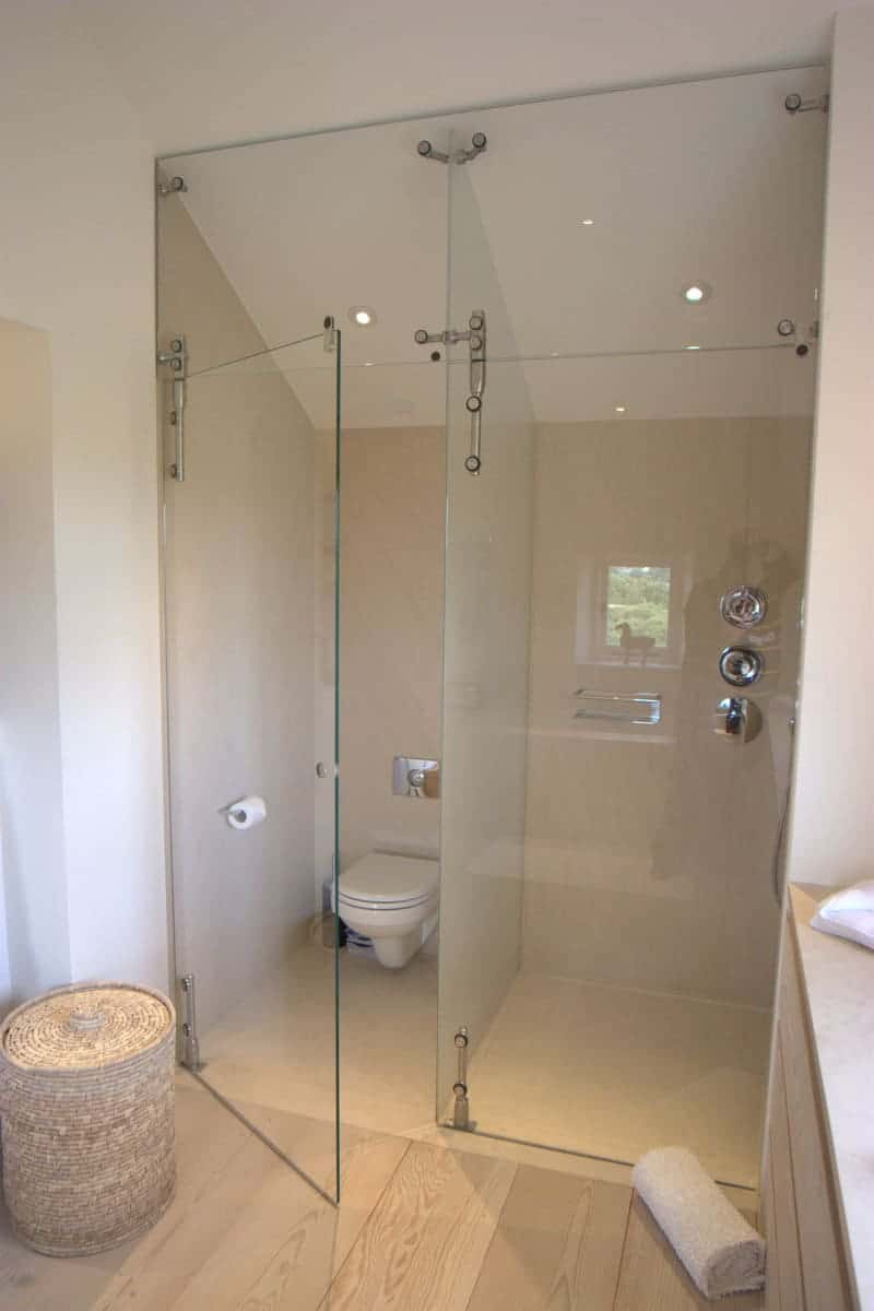 Shower bath wet rooms camel glass windows doors stairs - Bath shower room ...