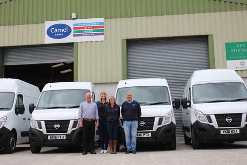 Camel group with nissan vans
