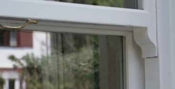close up of sliding sash window