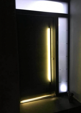 Front Entrance Door With Lights
