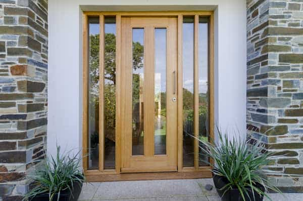 Timber Front Door With Glass Panels