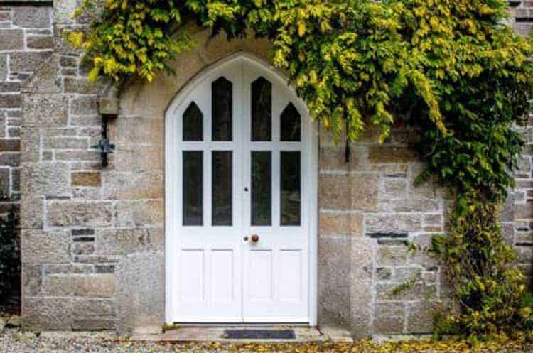 Arched Timber Front Door