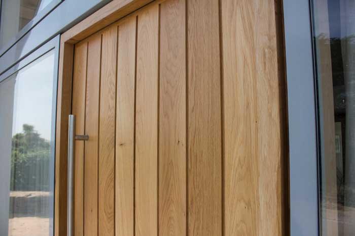 Large Timber Pivot Front Entrance Door