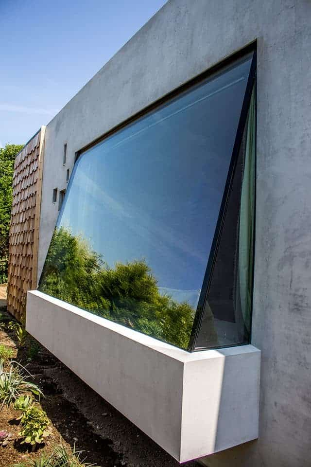 Angled Glass Window