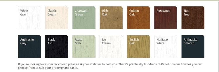 Dekko windows colour range