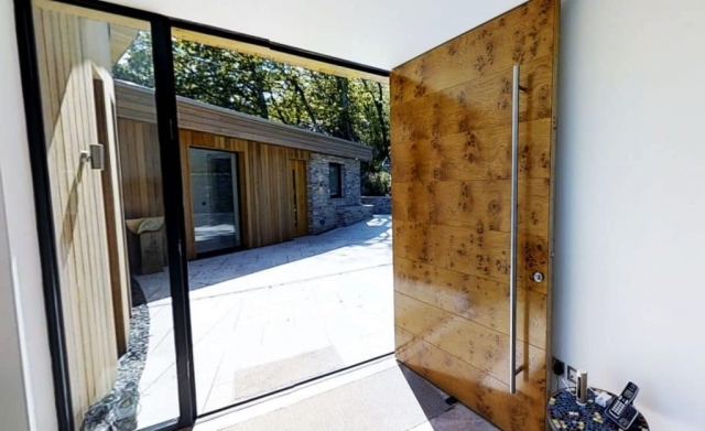 Luxury solid timber entrance door