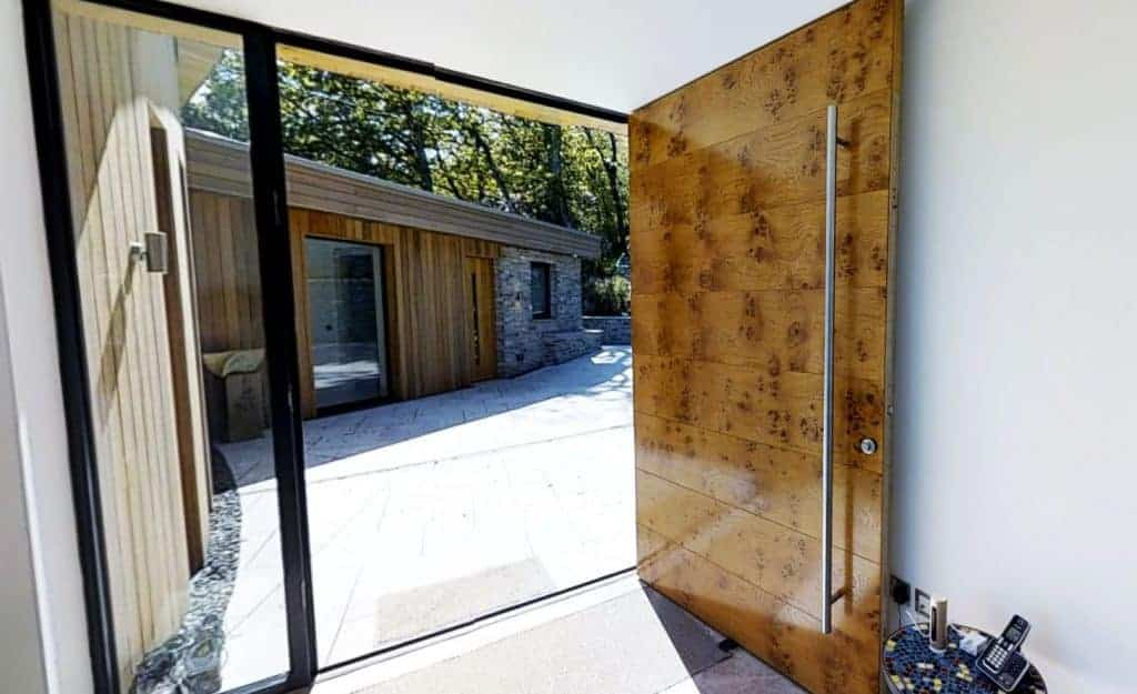 Luxury solid timber entrance door
