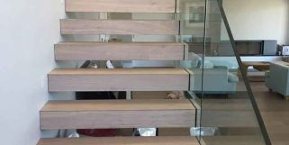 Timber & Glass Stairs