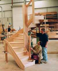 Stairs in workshop