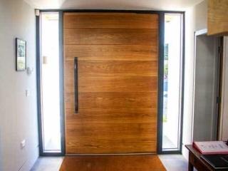 Timber Pivot Door from inside