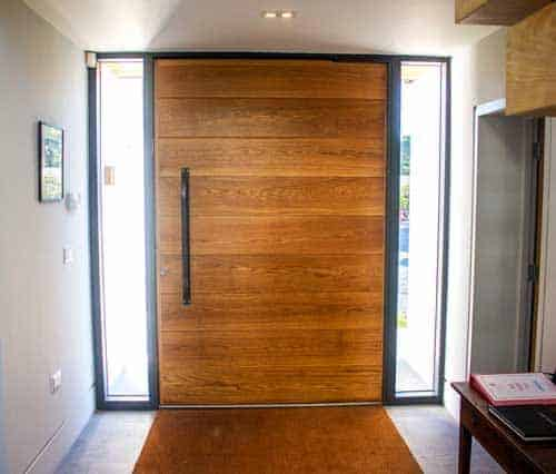 Timber Pivot Door from inside