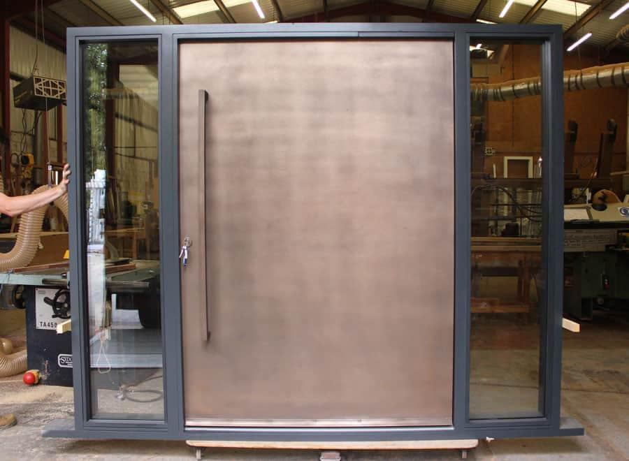 Bronze Pivot contemporary Door