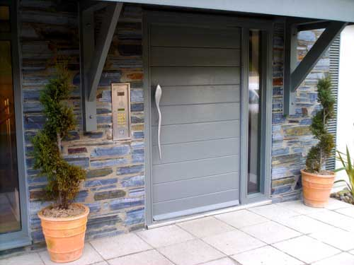 Modern Grey timber Door